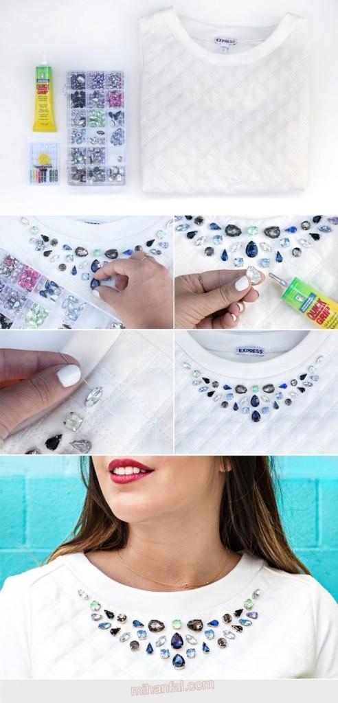 آموزش تصویری تزیین یقه لباس