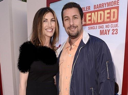 ادام سندلر و همسرش بازیگر معروف هالیوود +عکس