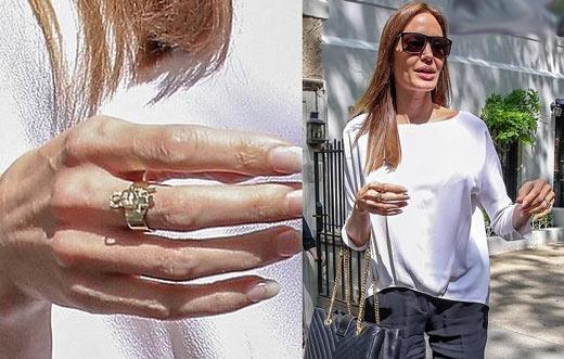 حلقه ای که آنجلینا جولی به مناسبت روز مادر هدیه گرفت +عکس