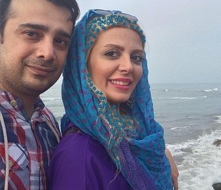 سپند امیر سلیمانی و همسرش در کنار ساحل شمال +عکس