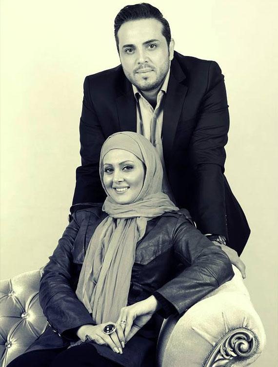 پدرام کریمی در کنار همسرش /عکس