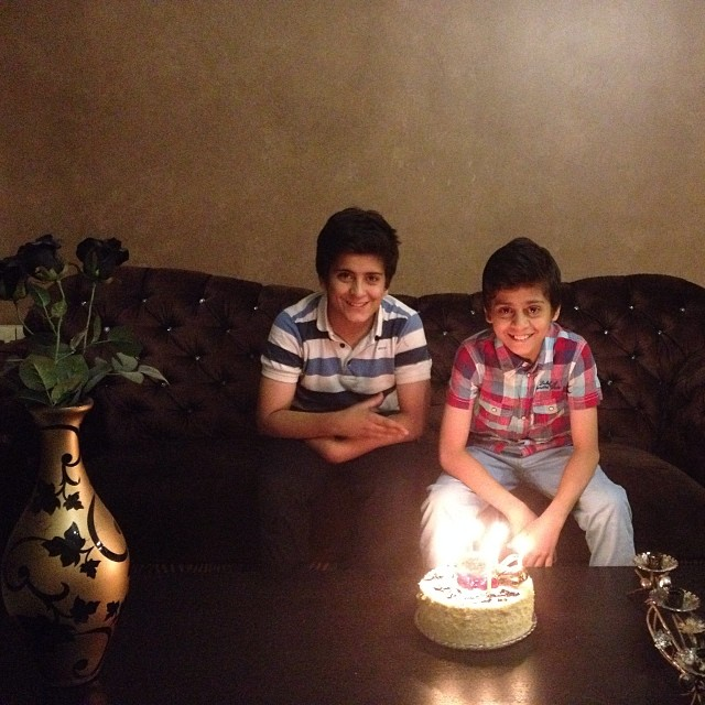 جشن تولد پسر علی کریمی +عکس