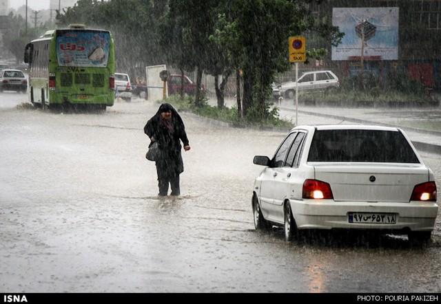 بارش شدید باران و آبگرفتگی در همدان /تصاویر