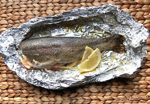 طرز تهیه ماهی قزل آلا در فر