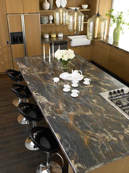 استفاده از سنگ های مرمر و گرانیت در دکوراسیون آشپزخانه