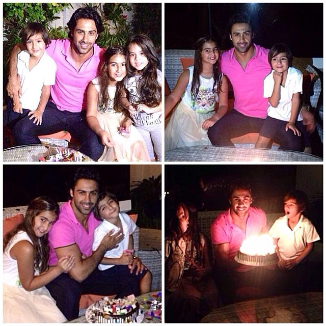 322 جشن تولد فرهاد مجیدی در کنار دختر و پسرش /عکس