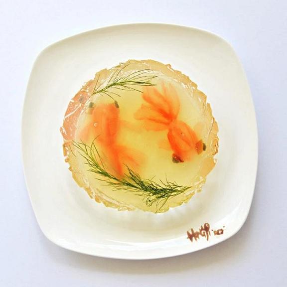 تزیین دیدنی و زیبای خوراکی ها /تصاویر