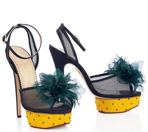 کفش مجلسی پاشنه 10 سانتی برند Charlotte Olympia