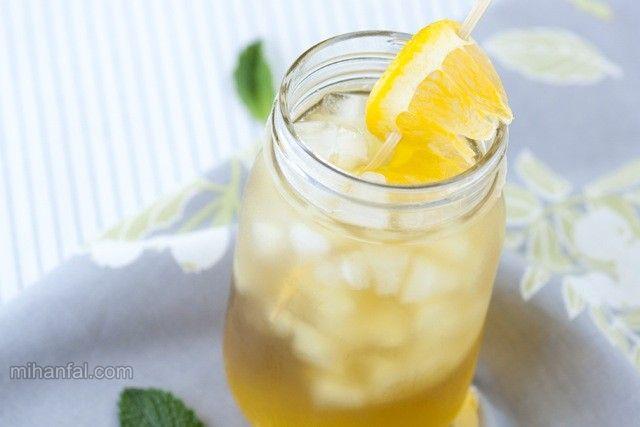 طرز تهیه چای سبز سرد نعنایی