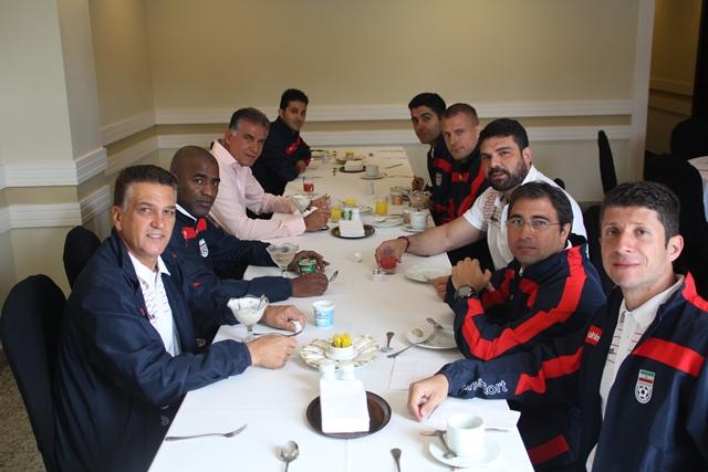 اولین صبحانه تیم ملی در برزیل /تصاویر