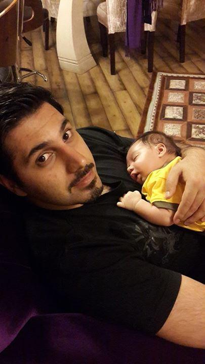 93 احسان خواجه امیری و پسرش /عکس
