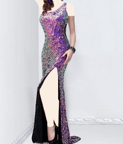 مدل لباس مجلسی زنانه چاک دار 2014