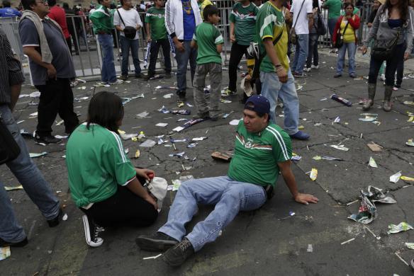 هواداران شکست خورده جام جهانی فوتبال /تصاویر