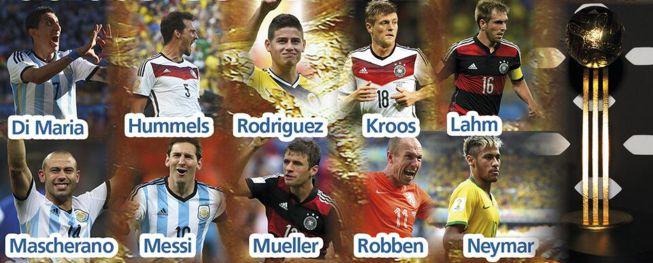 بهترین بازیکنان جام جهانی 2014 برزیل