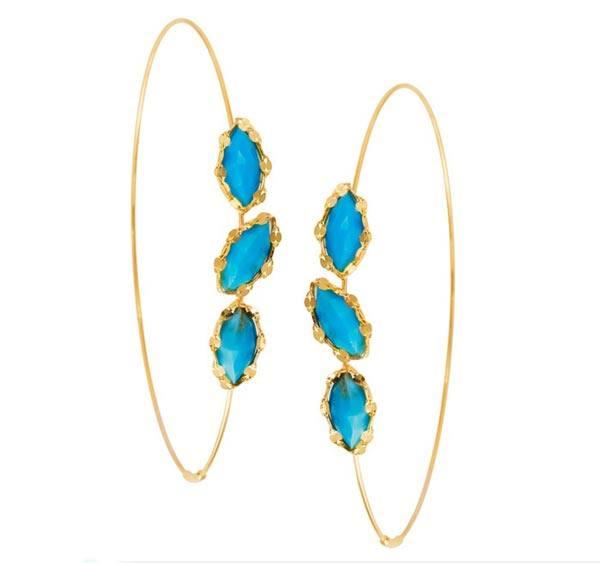 مدل جدید گوشواره های حلقه ای و آویزان طلا