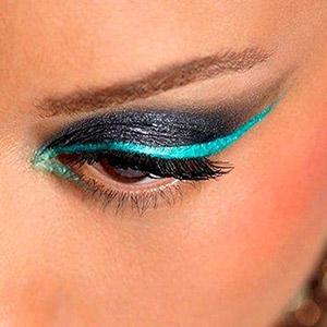 زیباترین مدل خط چشم های رنگی 2014