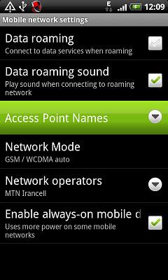 تنظیمات gprs همراه اول