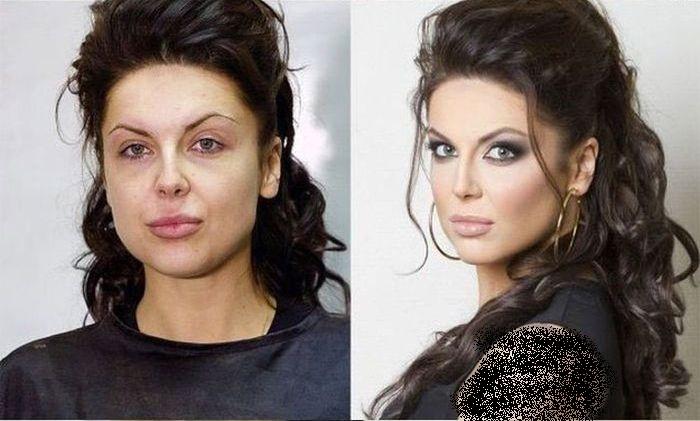 تصاویر باور نکردنی از دخترها قبل و بعد از آرایش