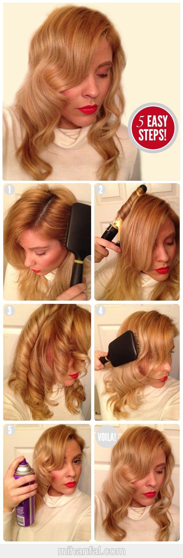 آموزش تصویری درست کردن مو به سبک هالیوودی