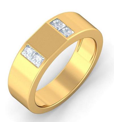 مدل حلقه مردانه زیبا طلای زرد