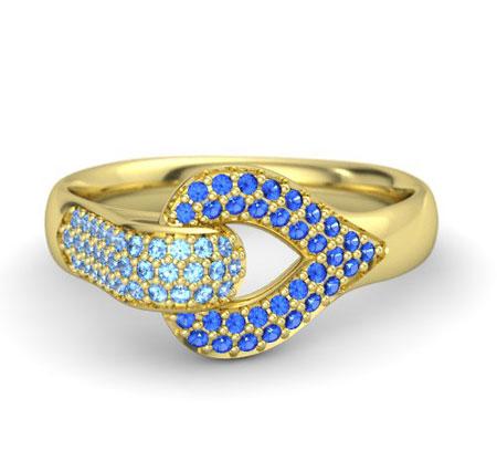 انگشتر های بسیار زیبا با نگین های آبی