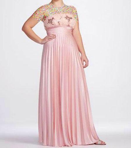 لباس های مجلسی زیبا ویژه خانم های تپل