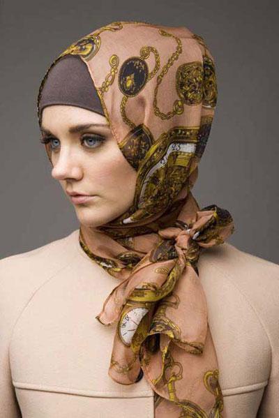جدیدترین مدل بستن شال و روسری تابستانی