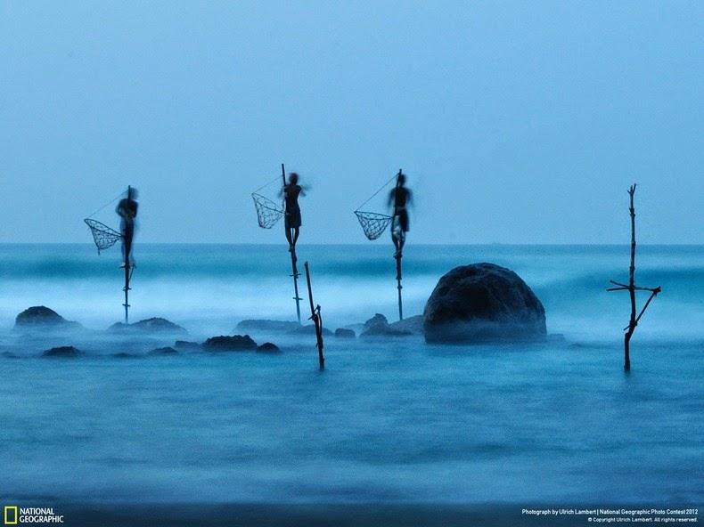 روش عجیب ماهیگیری