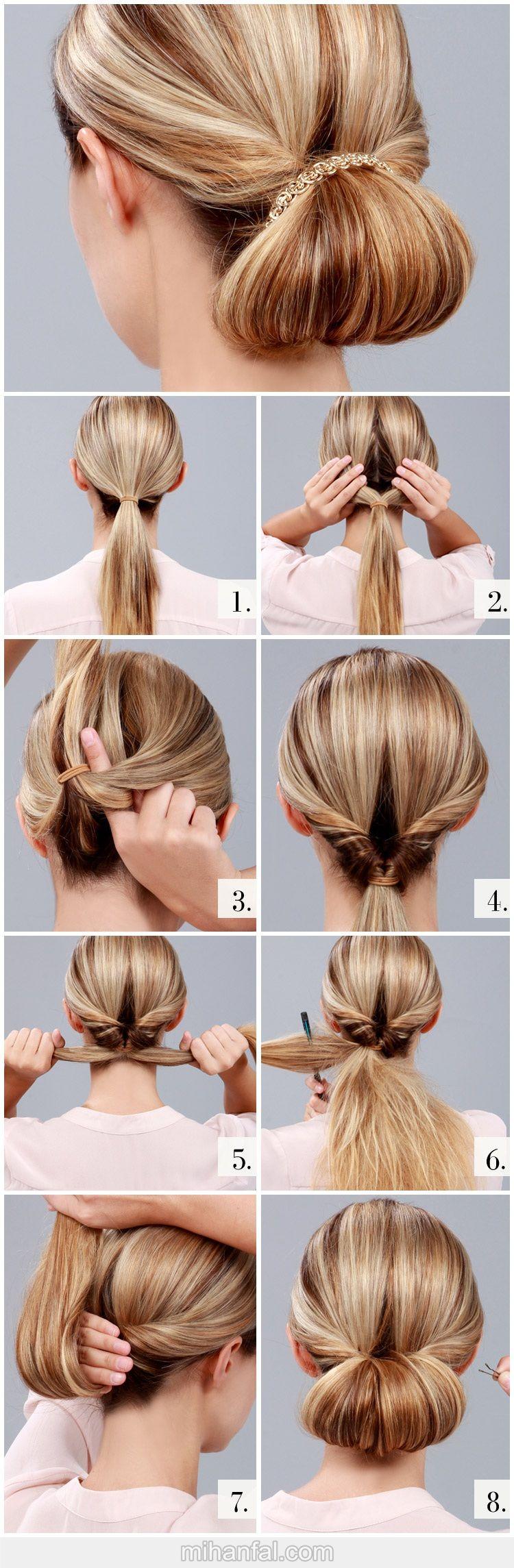 آموزش تصویری بافت مو به شکل رول
