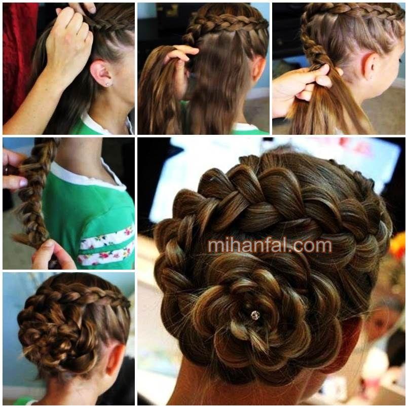 آموزش تصویری بافت مو به شکل گل 2014
