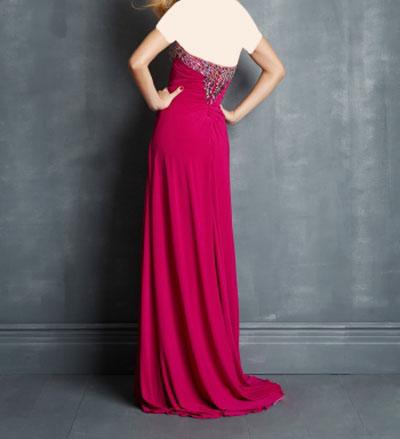 لباس مجلسی قرمز و مشکی و رنگهای متنوع
