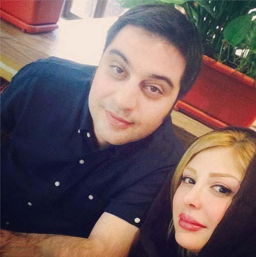 عکس سلفی نیوشا ضیغمی و همسرش