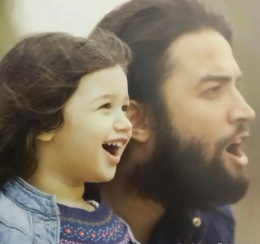 عکس بنیامین بهادری و دخترش بارانا /عکس