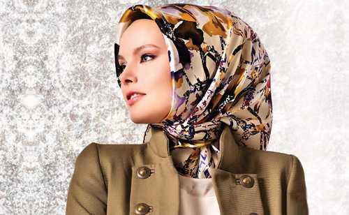 مدل جالب از روسری های ساتن ترکی