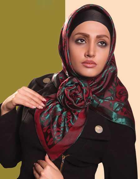جدیدترین طریقه بستن شال و روسری ایرانی
