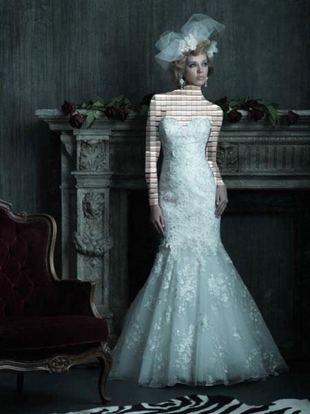 مدل لباس عروس با پارچه گیپور