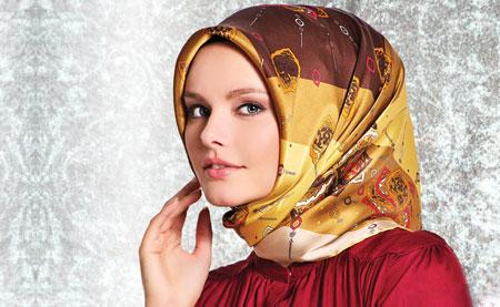 مدل روسری مجلسی از برند Karaca Esarp