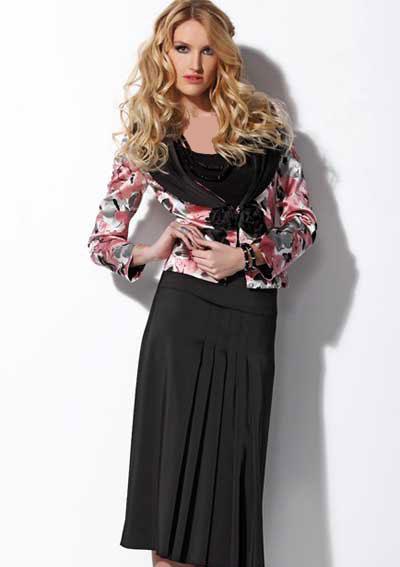 مدل کت و دامن های شیک و بلند زنانه
