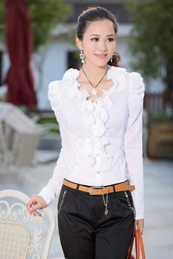 بلوز های زیبای دخترانه مدل یقه حلزونی