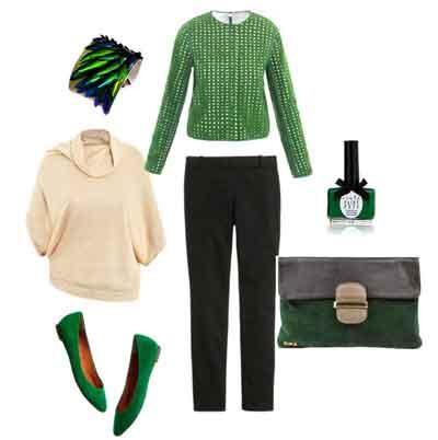 مدل های جذاب از ست مجلسی سبز رنگ