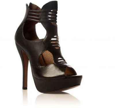 کفش های لژدار پاشنه دار با رنگهای گرم