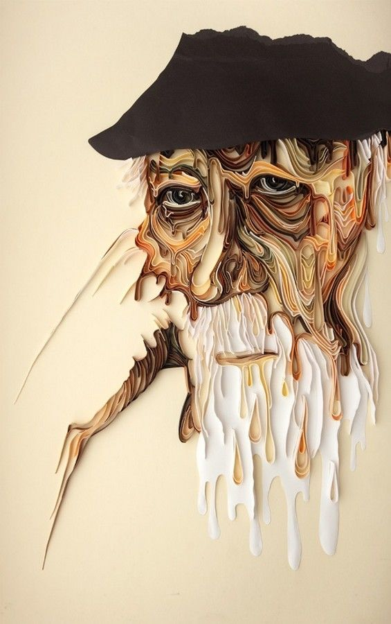 نقاشی های شگفت انگیز با کاغذ رنگی