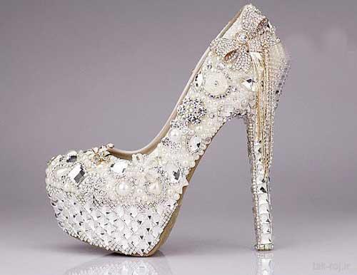 مجلل ترین مدل کفش نگین دار عروس