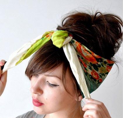 آموزش تصویری بستن روسری دخترانه