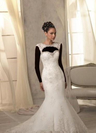 مدل زیبا از لباس عروس برند دانتل