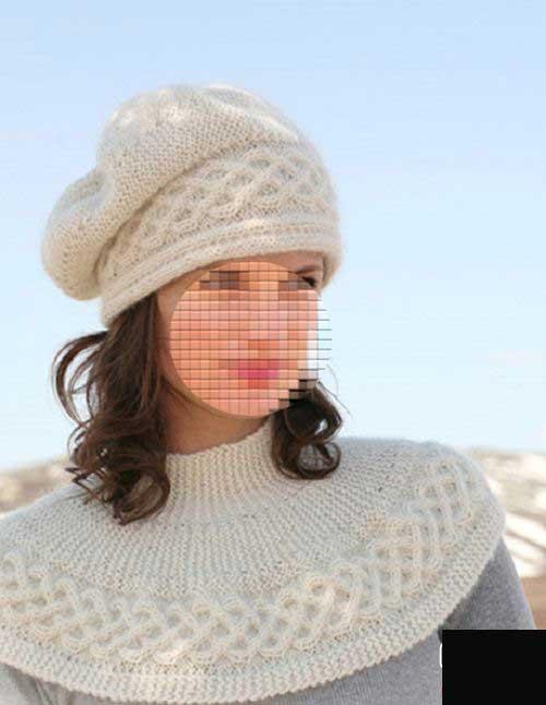 مدل دیدنی از کلاه و شال گردن دخترانه