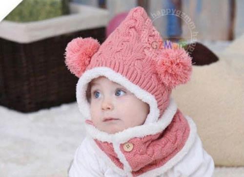 مدل کلاه بافتنی بسیار زیبای نوزادی