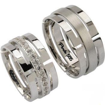 مدل حلقه های نامزدی زیبا از طلا سفید