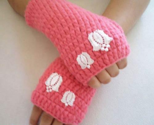 دستکش های بسیار جدید بافتنی دخترانه