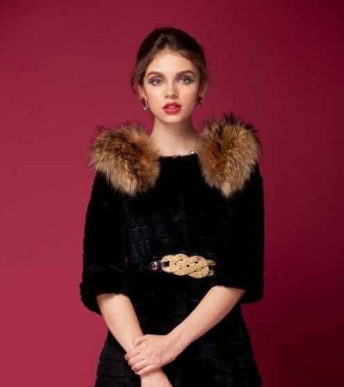 مدل جذاب از پالتو خزدار 2015 دخترانه